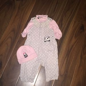 3-6 months Gymboree outfit with matching hat